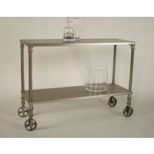 Polished Iron Trolley Bar Cart
