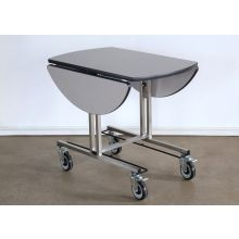 Rolling Room Service Cart with Leaves