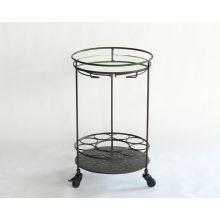 Iron Lacquer Bar Cart