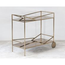 Angled Brass Bar Cart