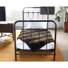 Kingsley Twin Bed in Vintage Black Pipe