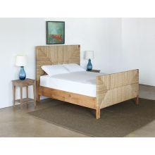 Holden Queen Bed in Teak and Rush