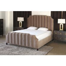 Bayonne Upholstered King Bed in Espresso