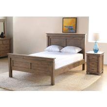 Settler Queen Bed in Sundried Ash