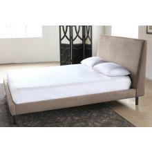 Tan Velvet Queen Bed