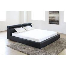 Vertu Black Leather King Bed