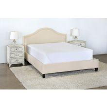 Flared Queen Bed in Linato Cream