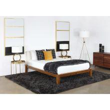 Repurposed Walnut Queen Platform Bed