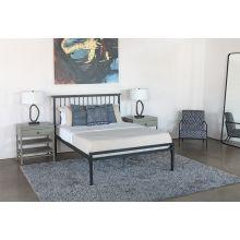 Black Steel Shaker Style Queen Bed