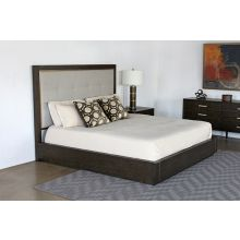 Sable Brown King Bed With Panel Headboard