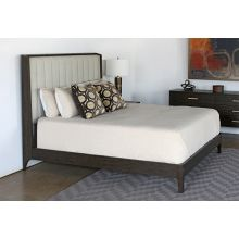 Sable Brown King Bed With Channel Back Upholstery