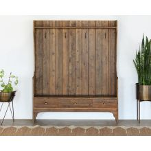 Concord Mudroom Bench in Bleached Pine