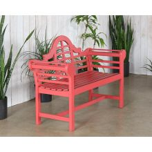 Red Lutyens Style Garden Bench