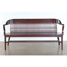 6' Oak Bank Of England Style Courtroom Bench