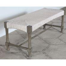 Palma Bench in Rustic Gray Finish