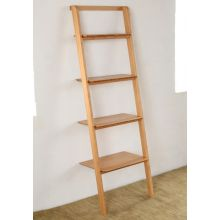 Modern Bamboo Leaning Bookcase