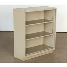 Putty 3 Shelf Metal Bookcase