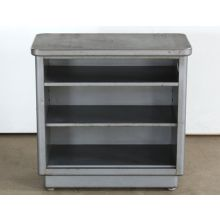 Gray Metal Bookcase