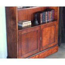 Mahogany Bookcase with Cabinet Bottom