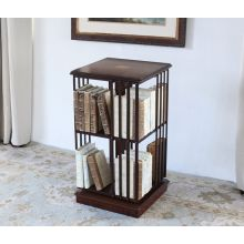 Mahogany Revolving Bookcase with Inlaid Top