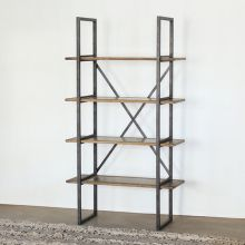 Modern Industrial Single Bookcase