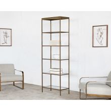Mitchell Gold Vienna Bookcase in Antique Brass