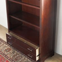 Mocha Transitional Bookcase