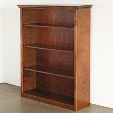 Dark Maple Bookcase With Four Shelves
