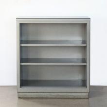 Grey Metal Steelcase Bookcase
