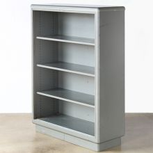 Tall Grey Metal Steelcase Bookcase