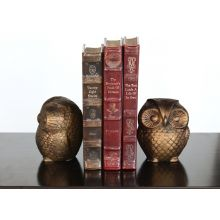 Pair of Bronze Owl Bookends
