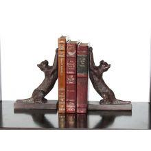 Pair of Bronze Iron Cat Bookends