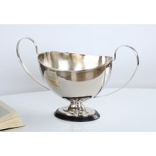 Nickel Finish Brass Trophy Centerpiece