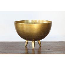 Medium Antique Brass Aluminum Oval Bowl