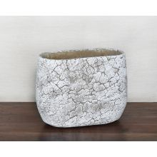 Large Off White Cement Pot