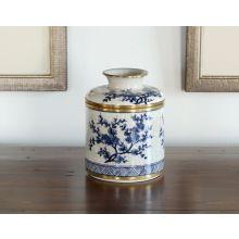 Blue And White Blossom Tissue Box