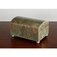 Teal and Silver Leaf Box