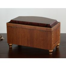 Wood Finish Footed Chest