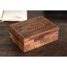 Sheesham Wood Box with Nailhead