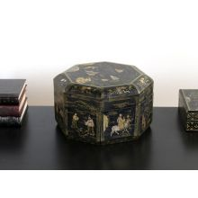 Chinese Octagonal Wooden Box