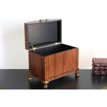 Wood Finish Footed Square Chest
