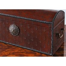 Oxblood Leather Box
