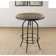 Metal Adjustable Bar Table with Wooden Top