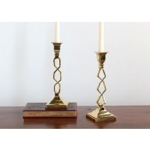 Polished Brass Open Work Candle Holder
