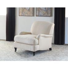 George Smith Style Tightback Club Chair in Linato Cream