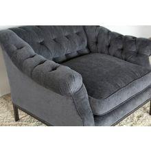 Damon Club Chair in Charcoal Velvet