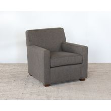 Gray Upholstered Club Chair