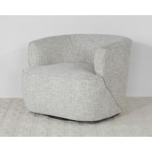 White Dove Barrel Back Swivel Lounge Chair