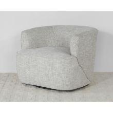 White Dove Barrel Back Swivel Lounge Chair