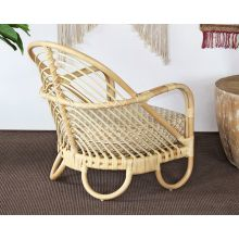 Curved Natural Rattan Lounge Chair